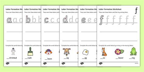 letter formation worksheets   handwriting letter