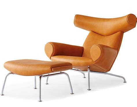 Ox Chair Erik Jorgensen by Hans Wegner Ej100 Ox Chair Ottoman Hivemodern