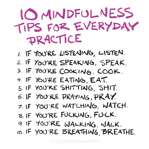 10 mindfulness tips everybody has a brain