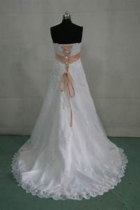 peach wedding dress to bring out the glimpses in your With peach dresses for wedding