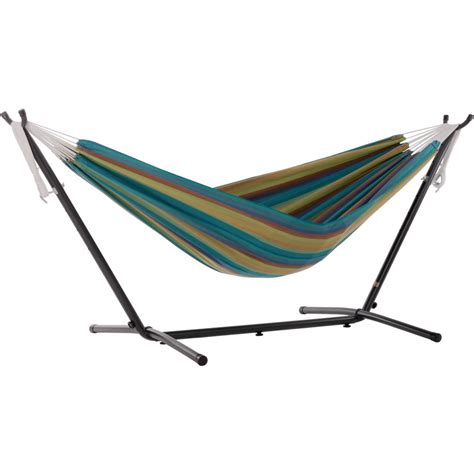 Vivere Hammocks by Vivere 9 Ft Portable Sunbrella Hammock With Stand In