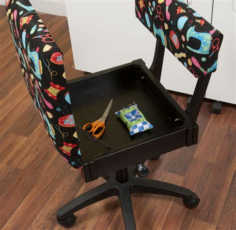 arrow sewing cabinets chair black sewing fabric height adjustable