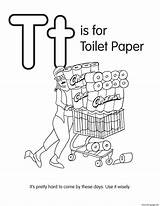 Coloring Toilet Paper Printable sketch template