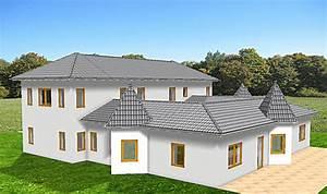 Bungalow Mit Atrium : atrium 289 30 12 ansicht 9 1 bungalow mit turm schloss einfamilienhaus neubau massivhaus stein ~ Indierocktalk.com Haus und Dekorationen