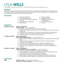 It Administrator Resume by Best Legacy Systems Administrator Resume Exle Livecareer