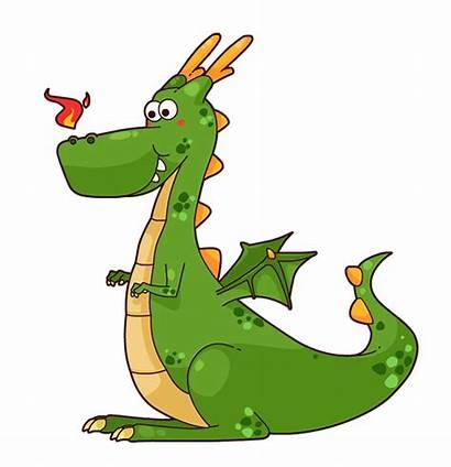 Dragon Clip Cartoon Clipart Domain Fairy Dragons