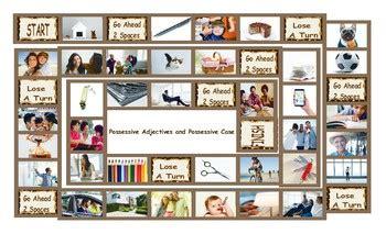 possessive pronouns possessives board game tpt