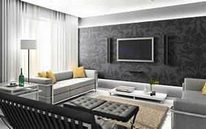 Muster Tapete Wohnzimmer : 93 ideen zur wandgestaltung mit holz stein tapete und mehr ~ Markanthonyermac.com Haus und Dekorationen