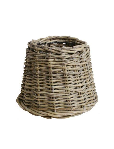 abat jour osier abat jour en osier brun gris livraison gratuite sur lesenligne