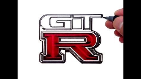 How To Draw The Nissan Gtr Logo