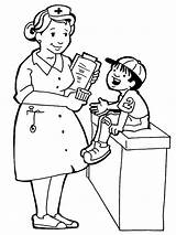 Nurses Coloring Pages Cliparts Nurse Attribution Forget Link Don sketch template