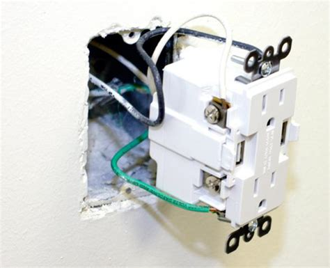 electrical receptacle installation usb receptacle wiring doityourself community forums