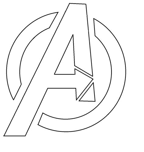 iron man logo coloring coloring pages