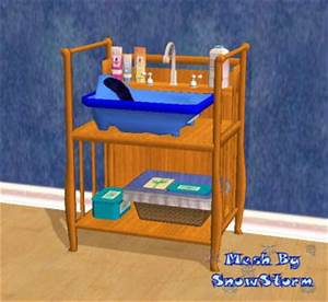 Mod the sims testers wanted sleigh style baby bath for Sims freeplay baby bathroom