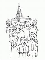 Temple Coloring Lds Pages Front Primary Temples Church Going Happy Families Drawing Gospel Printable Standing Print Sealing Synagogue Illustration Library sketch template