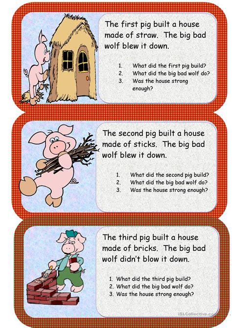 The three little pigs worksheet Free ESL printable
