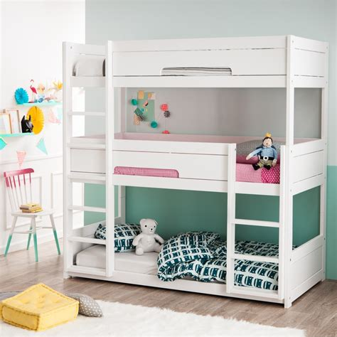 lit mezzanine ikea avec bureau focus sur le lit superposé 3 places alfred et