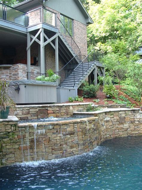 multi level pool home design ideas pictures remodel  decor