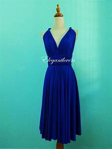 Cobalt Blue Knee Length Wedding Dress Bridesmaid By ...
