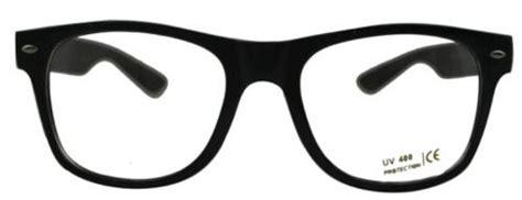 Nerdbrille Scharz Klar Hipster Neu Brille Hornbrille Uv Vintage Style Fasnacht