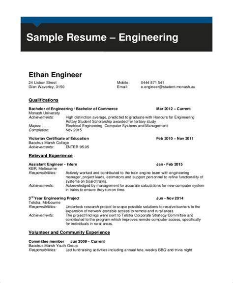 sample engineering cv templates   ms word