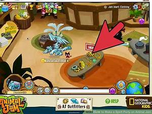 How to make a spirit party on animal jam 4 steps with for Floor lamp animal jam