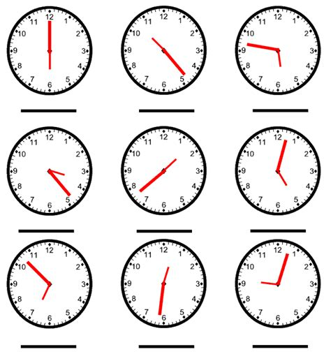 telling time worksheet