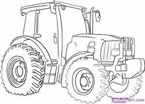 How to Draw a Tractor, Step by Step, Trucks ...