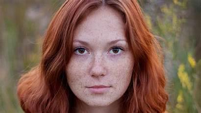 Redhead Eyes Brown Woman Redheaded Freckles Redheads