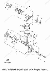Yamaha Atv 2001 Oem Parts Diagram For Crankshaft Piston