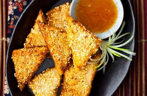 sesame prawn toast recipe goodtoknow