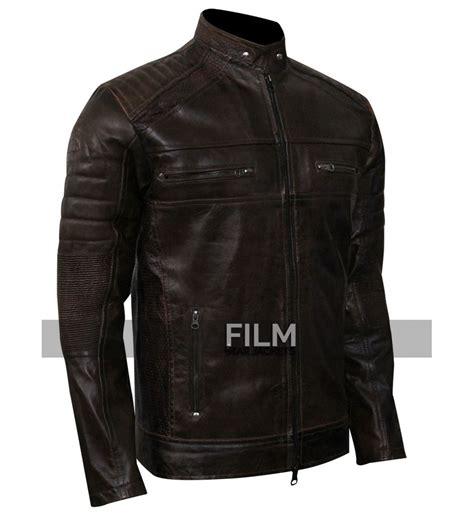 mc leather jacket cafe racer vintage dark brown motorcycle leather jacket