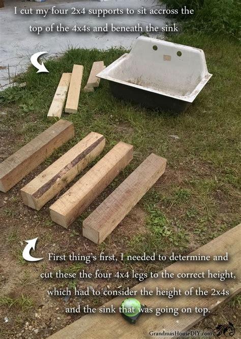 how to build a kitchen sink best 25 outdoor kitchen sink ideas on build