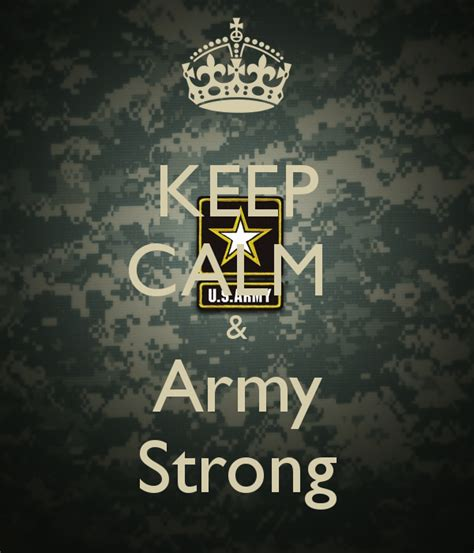 Keep Calm & Army Strong Poster  Ed  Keep Calmomatic