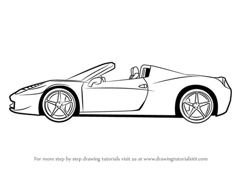 ferrari drawing learn how to draw a ferrari sports cars step by step