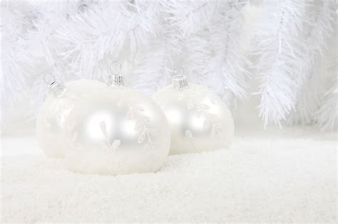 white christmas baubles free stock photo public domain