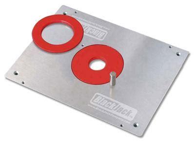 blackjack aluminum router plate