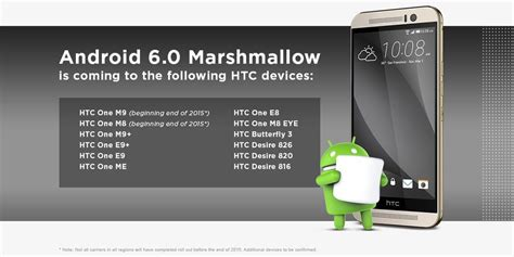 htc to roll out android 6 0 marshmallow to one m9 and m8 by the end of 2015 android central