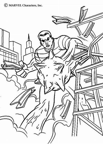 Coloriage Spiderman Sable Immeuble Detruit Homme Lhomme