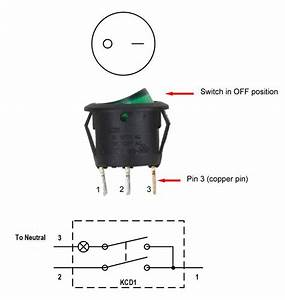 3 Pin Rocker Led Switch Wiring Diagram