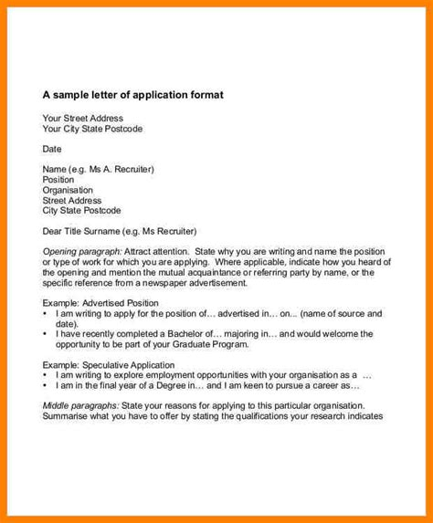 examples  work application letter cains