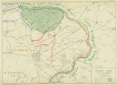 Ypres Maps Battle 1915 April Map 2nd