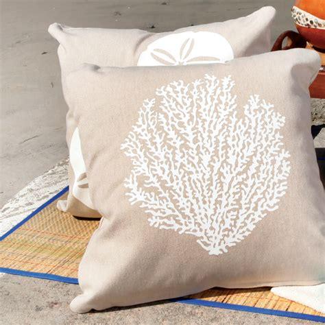 coastal throw pillows sea fan eco outdoor throw pillow in living coastal
