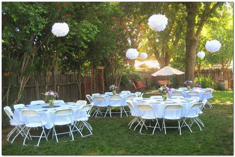 backyard graduation party decorating ideas   simple
