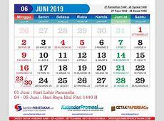 Kalender Juni 2019 Cetak Kalender 2019 harga Murah