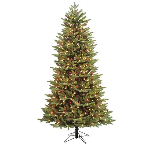 ge alaskan fir flocked pre lit tree 6 5 ft verde spruce artificial tree with 400 clear lights tg66m2v36c00 the home depot