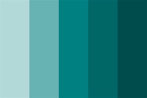 shades  teal color palette