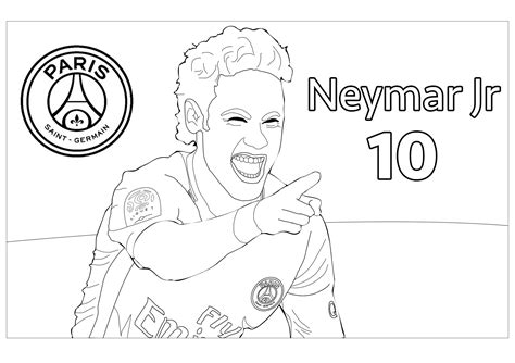 neymar jr  olympic  sport coloring pages