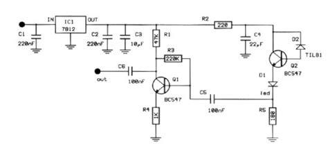 How Build Infrared Detector Circuit Diagram