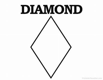 Diamond Shape Shapes Printable Crafts Printableparadise Template